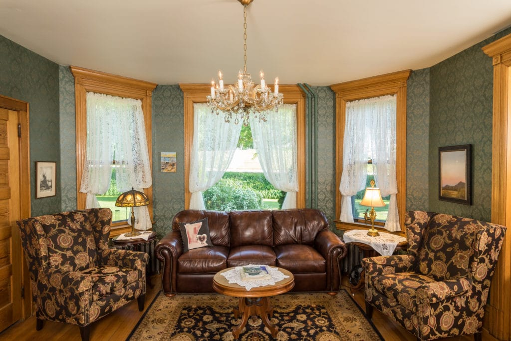The parlor at our Lanesboro Bed and Breakfast is a perfect place to curl up with a book, a board game or a deck of cards.