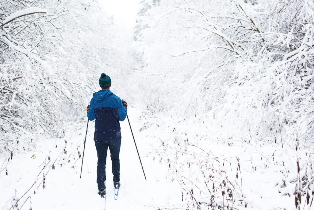 Cross-country skiing along the Root River Trail is a big draw for winter guests at our Minnesota Bed and Breakfast.