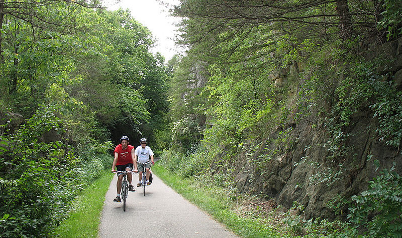 The Root River Trail is a popular activity spot at any time of year.