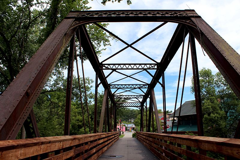 The Root River Trail bridge near Lanesboro is a reminder of the popular path's past as a railroad route.